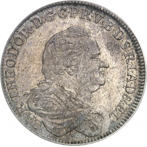 Bavière, Charles-Théodore (1777-1799). Thaler 1781 AS, Mannheim.