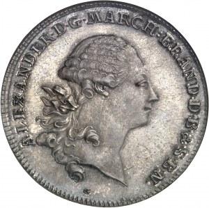 Brandebourg-Ansbach-Bayreuth, Charles-Alexandre (1757-1791). Thaler, réunion de Bayreuth à la principauté 1769, S, Schwabach.