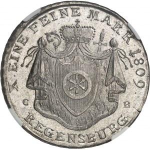 Confédération du Rhin, Charles-Théodore de Dalberg (1806-1813). Thaler 1809 CB, Ratisbonne.