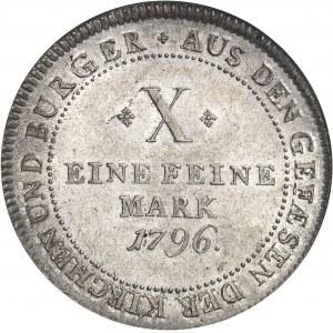 Francfort (ville libre de). Thaler 1796 HGHB, Francfort-sur-le-Main.