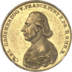 Francfort (Grand-duché de), Charles-Théodore de Dalberg (1810-1813). Médaille d'Or, création du Grand-duché de Francfort, par Johann Christian Reich 1810, Fürth.