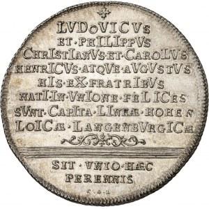 Hohenlohe-Langenbourg, Louis (1715-1765). Thaler, 50e anniversaire de la division en trois branches de la famille 1751 CGL-PPW, Nuremberg.