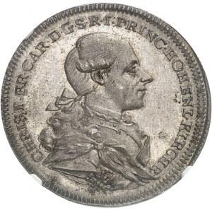 Hohenlohe-Kirchberg, Christian Frédéric Charles (1767-1806). Thaler 1781 WK, S, Schwabach.