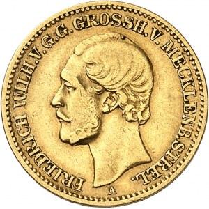 Mecklenbourg-Strelitz, Frédéric Guillaume (1860-1904). 10 mark 1874, A, Berlin.