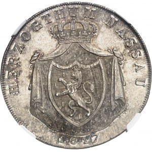 Nassau (duché de), Guillaume (1816-1839). Thaler 1817 CT, L, Limbourg.
