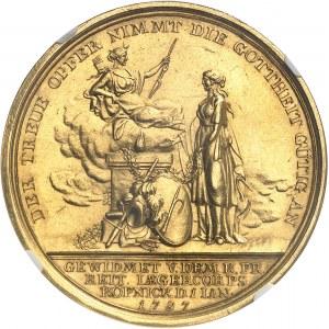 Prusse, Frédéric-Guillaume III (1797-1840). Médaille d'Or, Hans Rudolf von Bischofwerder par Loos 1797, Berlin.