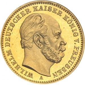 Prusse, Guillaume Ier (1861-1888). 20 mark, Flan bruni (PROOF) 1888, A, Berlin.