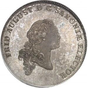 Saxe, Frédéric-Auguste III, prince-électeur (1763-1806). Thaler 1764 IFôF, Leipzig.