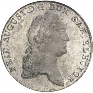 Saxe, Frédéric-Auguste III, prince-électeur (1763-1806). Thaler 1782 IEC, Dresde.