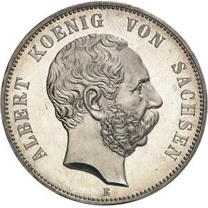 Saxe, Albert (1873-1902). 5 mark Flan bruni (PROOF) 1900, E, Dresde.