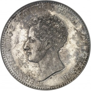 Saxe-Coburg-Gotha, Ernest Ier (1826-1844). Thaler, aspect Flan bruni (PROOFLIKE) 1829 EK, Gotha.