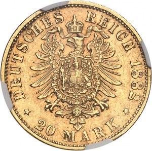 Saxe-Meiningen, Georges II (1866-1914). 20 mark 1882, D, Munich.