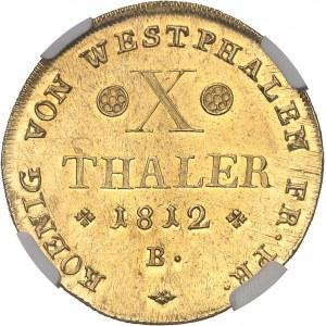 Westphalie, Jérôme Napoléon (1807-1813). 10 talers 1812, B, Brunswick.
