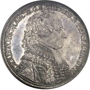 Wurtzbourg (évêché de), Christoph Franz von Hutten, prince-évêque (1724-1729). Thaler 1728, Wurtzbourg.