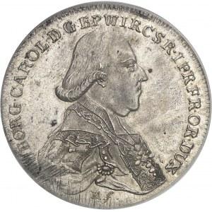 Wurtzbourg (évêché de), Georg Karl von Fechenbach, prince-évêque (1795-1802). Thaler 1795 MM, Wurtzbourg.