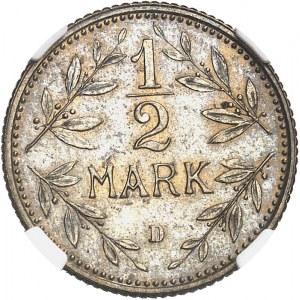 Empire allemand (1871-1918). Essai de 1/2 mark 1901, D, Munich.