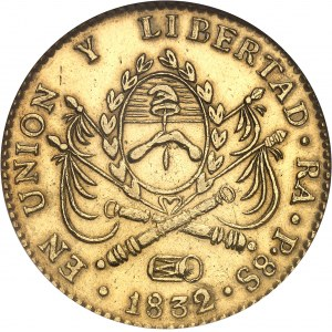 Confédération argentine (1831-1861). 8 escudos 1832/1, RA, Rioja.
