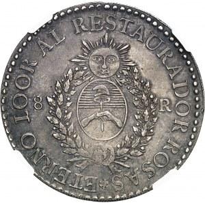 Confédération argentine (1831-1861). 8 réaux 1838, R, Rioja.