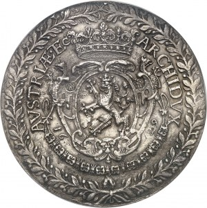 Bohème (royaume de), Ferdinand III (1627-1657). Module de 3 thalers (médaille monétiforme) pour la guérison du Roi 1629, Prague.