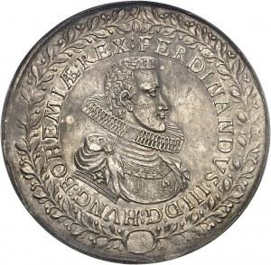 Bohème (royaume de), Ferdinand III (1627-1657). Module de 2 thalers (médaille monétiforme) pour la guérison du Roi 1629, Prague.