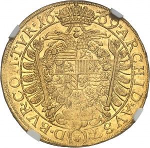 Léopold Ier (1657-1705). 5 ducats 1669, Vienne.