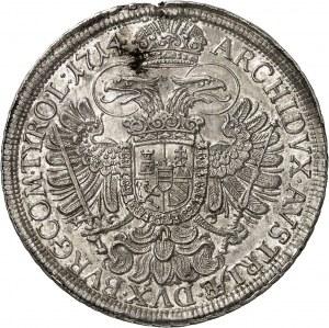 Charles VI (1711-1740). Thaler 1714, Vienne.