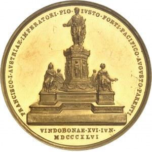 Ferdinand Ier (1835-1848). Médaille d'Or, Monument commémoratif de François Ier du Palais impérial de Hofburg 1846, Vienne.