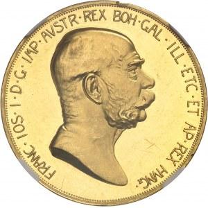 François-Joseph Ier (1848-1916). 100 Corona, 60e anniversaire de règne, Flan bruni (PROOF) 1908, Kremnitz.