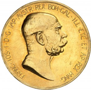 François-Joseph Ier (1848-1916). 100 Corona, 60e anniversaire de règne 1908, Kremnitz.