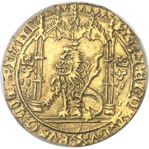 Brabant (duché de), Philippe le Bon (1434-1467). Lion d'or ND (1454-1466), Bruges.