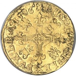 Brabant (duché de), Philippe II (1555-1598). Couronne d'or 1586, Anvers.