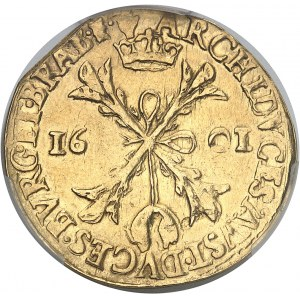 Brabant (duché de), Albert et Isabelle (1598-1621). Double albertin 1601, Anvers.