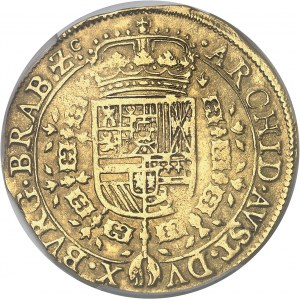 Brabant (duché de), Philippe IV (1621-1665). Double souverain 1642, Bruxelles.