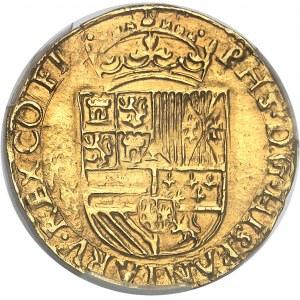 Flandres (comté de), Philippe II (1555-1598). Demi-réal d'or ND (1560-1567), Bruges.