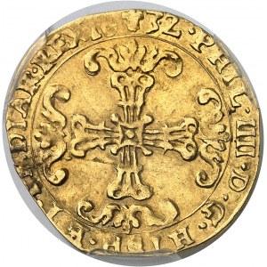Flandres (comté de), Philippe IV (1621-1665). Couronne 1632, Bruges.