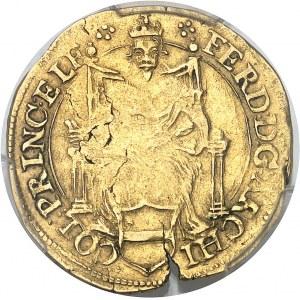 Liège (évêché de), Ferdinand de Bavière (1612-1650). Florin d'or rhénan ND (1614), Hasselt.