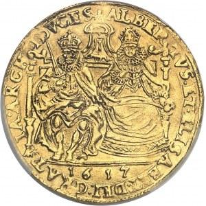Tournai (seigneurie de), Albert et Isabelle (1598-1621). Double souverain 1617, Tournai.
