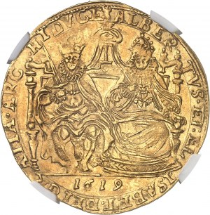 Tournai (seigneurie de), Albert et Isabelle (1598-1621). Double souverain 1619, Tournai.