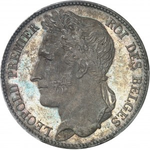 Léopold Ier (1831-1865). 5 francs, position A 1832, Bruxelles.