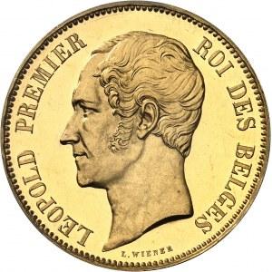 Léopold Ier (1831-1865). Module de 100 francs en Or, mariage du duc et de la duchesse de Brabant, Flan bruni (PROOF) 1853, Bruxelles.