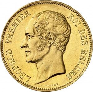 Léopold Ier (1831-1865). Module de 100 francs en Or, mariage du duc et de la duchesse de Brabant 1853, Bruxelles.