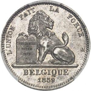 Léopold Ier (1831-1865). Essai de 10 centimes au lion par Braemt 1859, Bruxelles.
