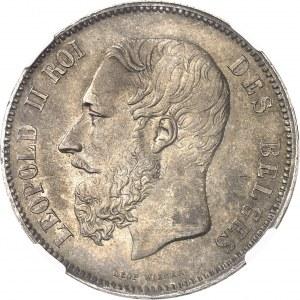 Léopold II (1865-1909). 5 francs 1875, Bruxelles.