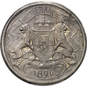 Congo, Léopold II (1885-1908). Essai de 5 francs 1896.