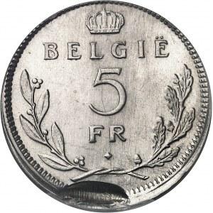 Léopold III (1934-1951). 5 francs légende flamande, frappe fautée 1937, Bruxelles.