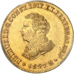 Pierre Ier (1822-1831). 6400 réis 1827, R, Rio de Janeiro.