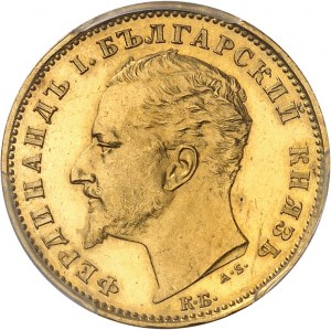 Ferdinand Ier (1887-1918). 20 leva, Flan bruni (PROOF) 1894, KB, Kremnitz.