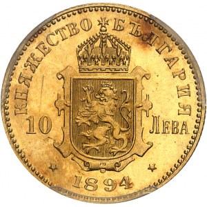 Ferdinand Ier (1887-1918). 10 leva, Flan bruni (PROOF) 1894, KB, Kremnitz.