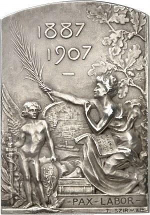 Ferdinand Ier (1887-1918). Plaque pour les vingt ans de règne de Ferdinand Ier, Prince des Bulgares, par T. Szirmaï 1907, Paris.