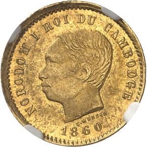 Norodom Ier (1860-1904). 50 centimes Or 1860 [c.1875], Bruxelles (Würden) [puis Phnom Penh].